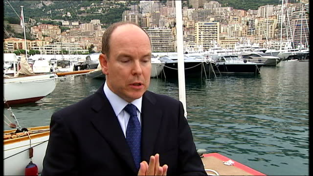 interview with prince albert ii of monaco prince albert ii of monaco interview sot i would simply say we are facing with an urgency we're not faced... - monaco royalty stock videos and b-roll footage