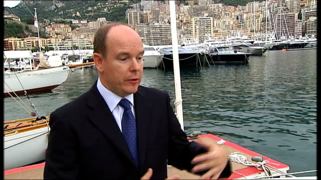 interview with Prince Albert II of Monaco Prince Albert II of Monaco interview SOT We only have one family of fishermen and we try to support them as...