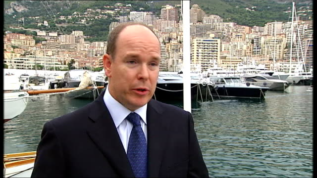 interview with prince albert ii of monaco prince albert ii of monaco interview sot the us has seemed to express interest although they haven't given... - monaco royalty stock videos and b-roll footage