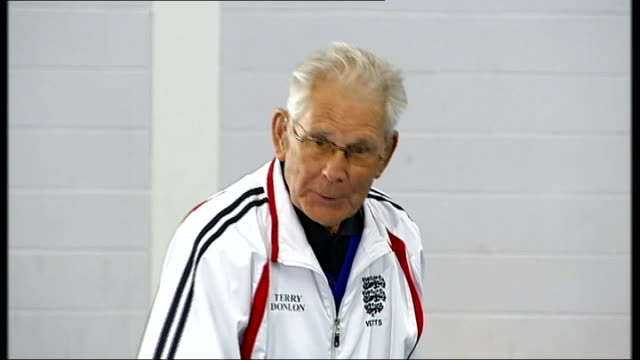 campaign to promote table tennis with the elderly to combat alzheimer's location unknown terry donlon interview sot london dr matthew kempton at... - table tennis bat stock videos & royalty-free footage