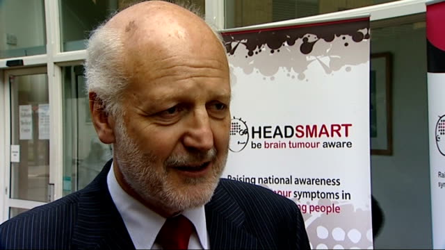 campaign to spot brain tumours int professor david walker interview sot by distributing symptom cards hope people will take them to their gps and ask... - symptom stock videos and b-roll footage