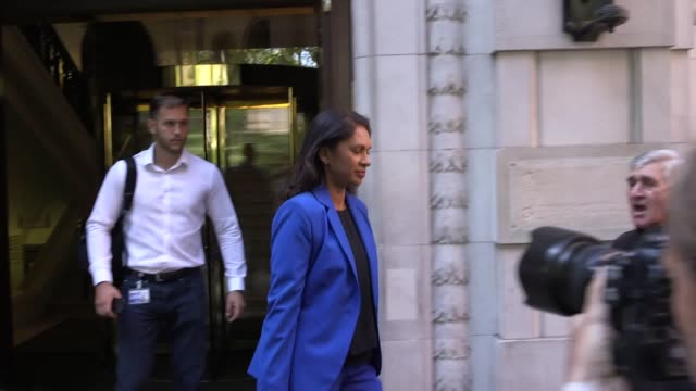campaigner gina miller leaves millbank after a morning of interviews following the decision to prorogue parliament thousands of people protested... - following stock videos & royalty-free footage