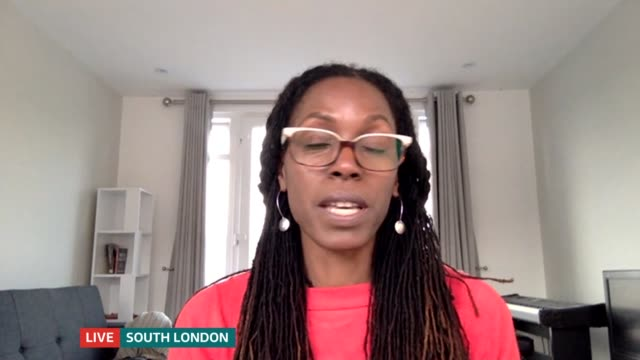 campaigners fighting discrimination around afro hair in schools; england: london: gir: int michelle de leon and michaela williams live 2-way... - itv london tonight stock-videos und b-roll-filmmaterial