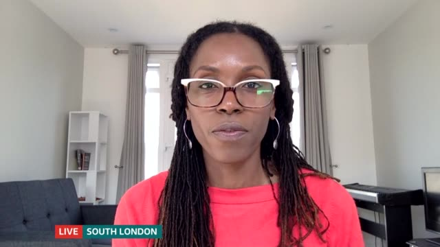campaigners fighting discrimination around afro hair in schools; england: london: gir: int michelle de leon and esther live 3-way interview sot - curly stock videos & royalty-free footage