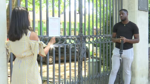 campaigners object to hackney museum retaining statue of slave trader; england: london: hackney: ext statue of sir robert geffrye, who earned some of... - slavery stock videos & royalty-free footage
