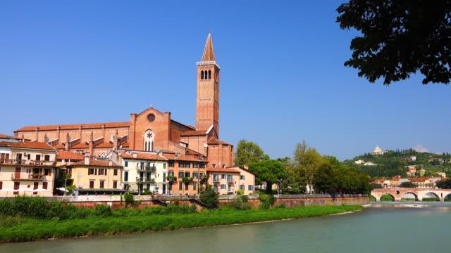 campanile di santa anastasia - italian currency stock videos & royalty-free footage