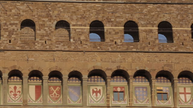 campanile, piazza della signoria, florence, tuscany, italy, europe - insignia stock videos and b-roll footage