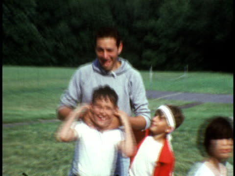 1973 ms campers being led by camp counselor at camp sussex summer camp / sussex, new jersey - summer camp helper stock videos & royalty-free footage