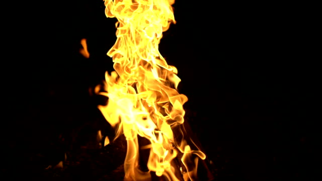 campfire full hd, slow motion - flaming torch stock videos & royalty-free footage
