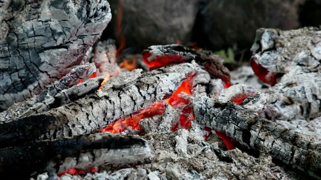 Campfire heat close-up