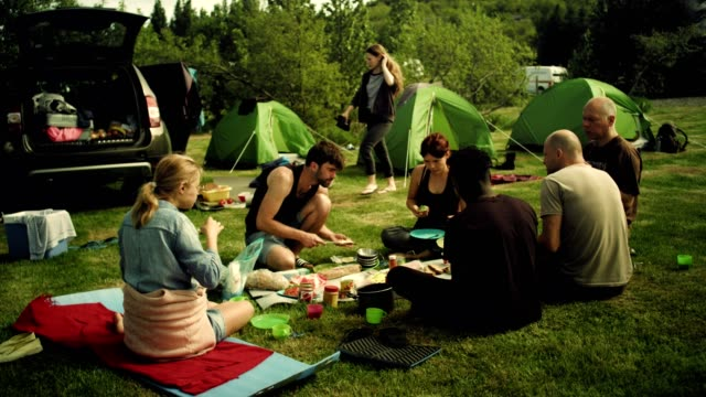 Camping-Frühstück