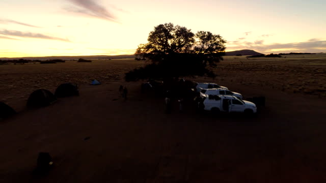 HELI Camping In Namibian Savannah