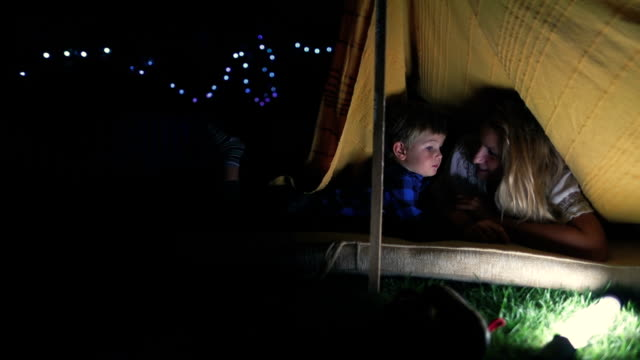 camping in our backyard - tent stock videos & royalty-free footage