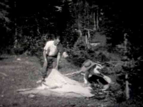 1927 camping near jackson hole - wyoming stock videos & royalty-free footage