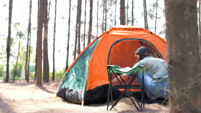 camping on holiday and vacation - holiday camp stock videos & royalty-free footage