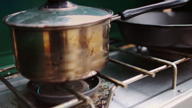 camping stove - camping stove stock videos and b-roll footage