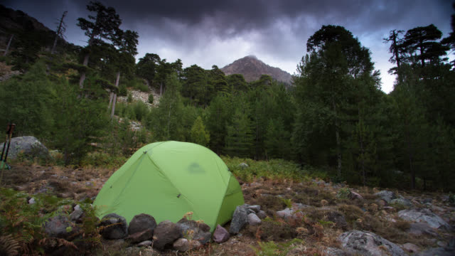 time lapse: camping - tent stock videos and b-roll footage