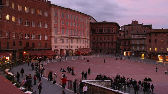 campo north side transition - piazza del campo stock videos and b-roll footage