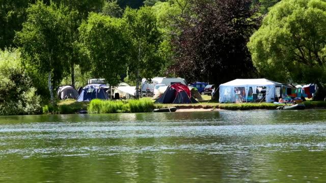 Campsite close to the lake