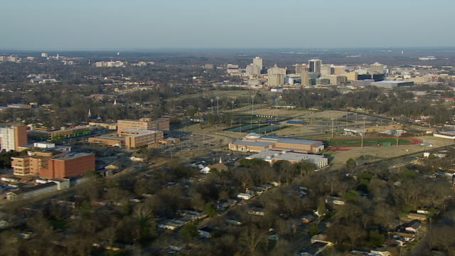 jsu campus and downtown jackson mississippi - jackson stock videos & royalty-free footage
