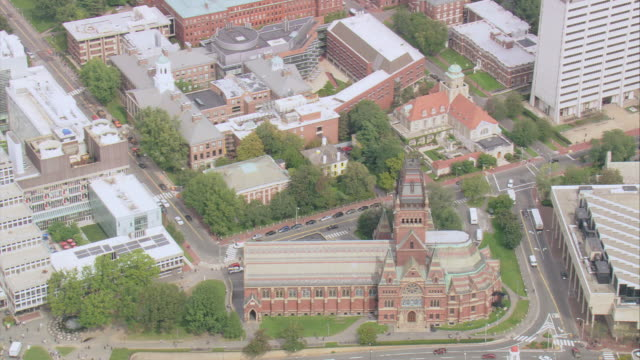 stockvideo's en b-roll-footage met areial campus of harvard university / cambridge, massachusetts, united states - harvard university