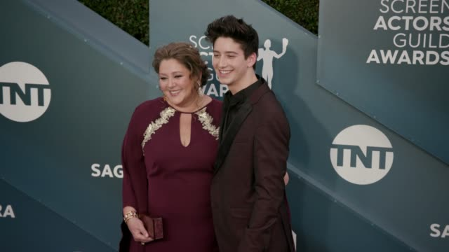 camryn manheim and milo manheim at the 26th annual screen actors guild awards - arrivals at the shrine auditorium on january 19, 2020 in los angeles,... - screen actors guild awards stock videos & royalty-free footage