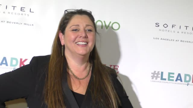 camryn manheim at the nyle dimarco foundation kicks off love and language campaign on november 29, 2016 in los angeles, california. - camryn manheim stock videos & royalty-free footage