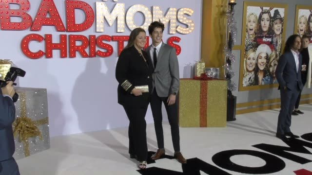 """camryn manheim & milo manheim at the """"a bad moms christmas"""" premiere at regency village theatre on october 30, 2017 in westwood, california. - camryn manheim stock videos & royalty-free footage"""