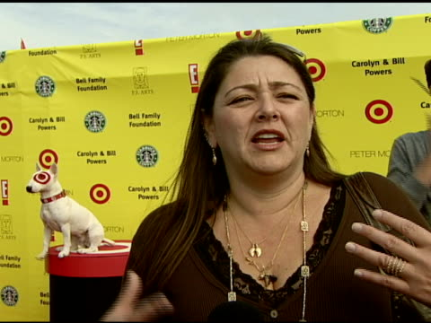 camryn manheim on why art education in public schools is important and on if she enjoyed art growing up at the celebrating the 10th anniversary of... - camryn manheim stock videos & royalty-free footage