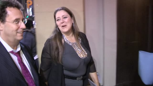 camryn manheim & tony kushner arriving at the lincoln after party in hollywood, 11/08/12 - camryn manheim stock videos & royalty-free footage