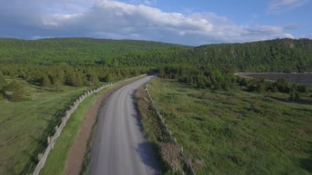 canada aerial footage - coastal road stock videos & royalty-free footage