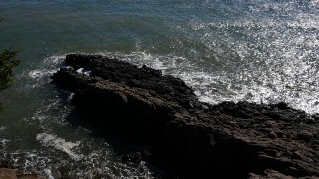 canada bay of fundy rock peninsula - coastal feature stock videos & royalty-free footage