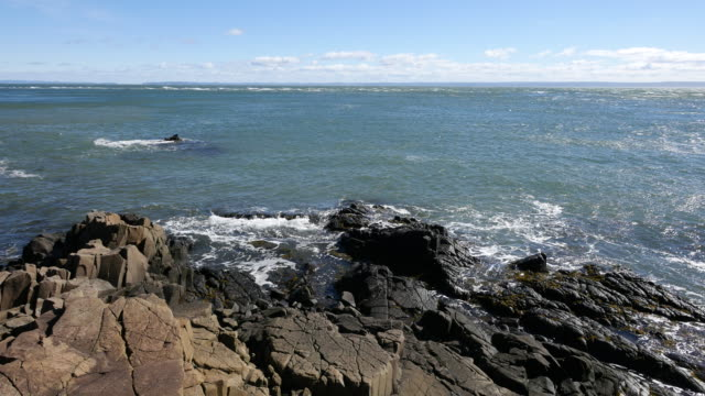 Canada Bay of Fundy sea meets rocks
