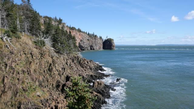 Canada Bay of Fundy steep shoreline