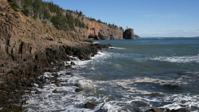 Canada Bay of Fundy view as tide goes out