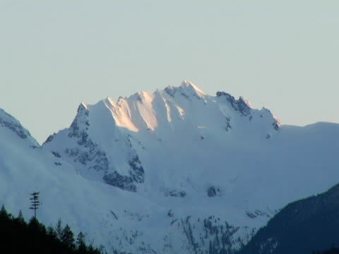 MS, Canada, British Columbia, Whistler, Snow capped mountain peak