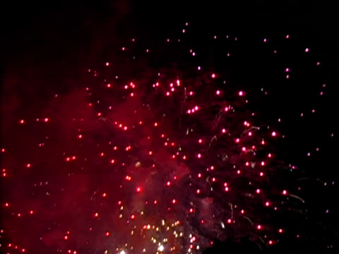 canada day fireworks - ottawa stock videos and b-roll footage