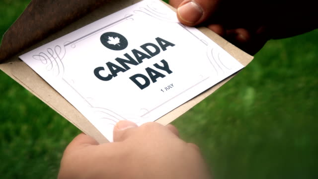 canada day letter - mail stock videos & royalty-free footage