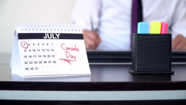 canada day - special days - canada flag stock videos & royalty-free footage