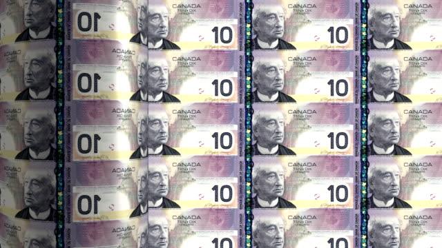 Canada dollar printing - animation