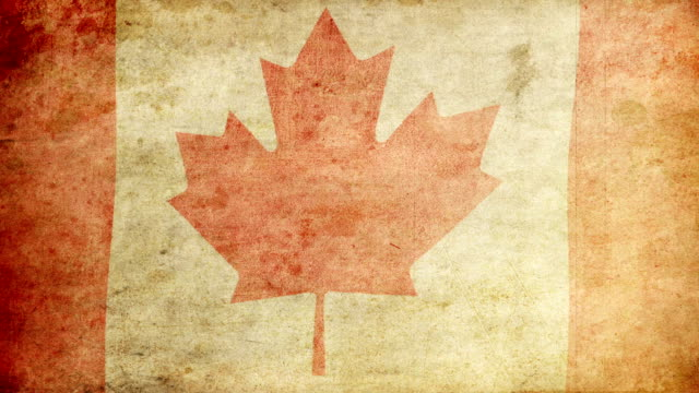 canada flag - grunge. hd - traditionally canadian stock videos & royalty-free footage