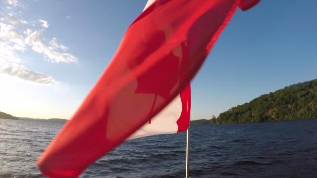 canada flag - canada flag stock videos & royalty-free footage