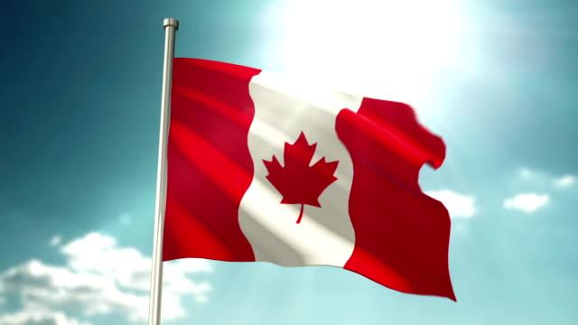 vídeos y material grabado en eventos de stock de bandera de canadá de 4 k - bandera de canada