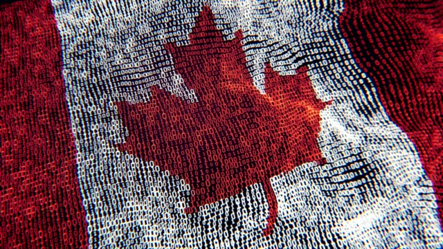 Canada FlagParticle Digital Flag Loopable 4K