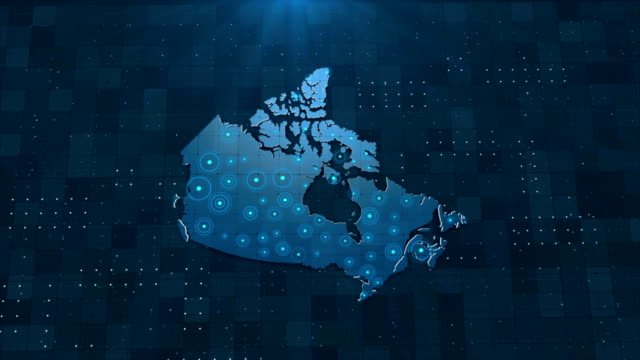 4k canada map links with full background details - ontario canada stock videos & royalty-free footage