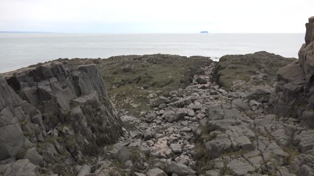 Canada Nova Scotia Bay of Fundy beyond rock drainage