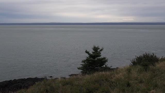 Canada Nova Scotia Bay of Fundy view pan
