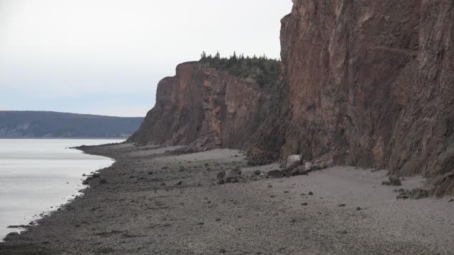 Canada Nova Scotia cliffs and Bay of Fundy beach