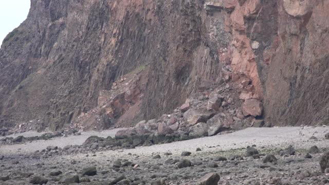 Canada Nova Scotia cliffs and beach of sand and rocks