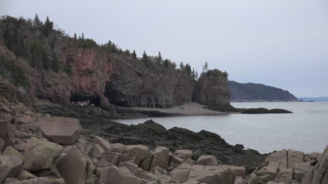 Canada Nova Scotia shore of Bay of Fundy